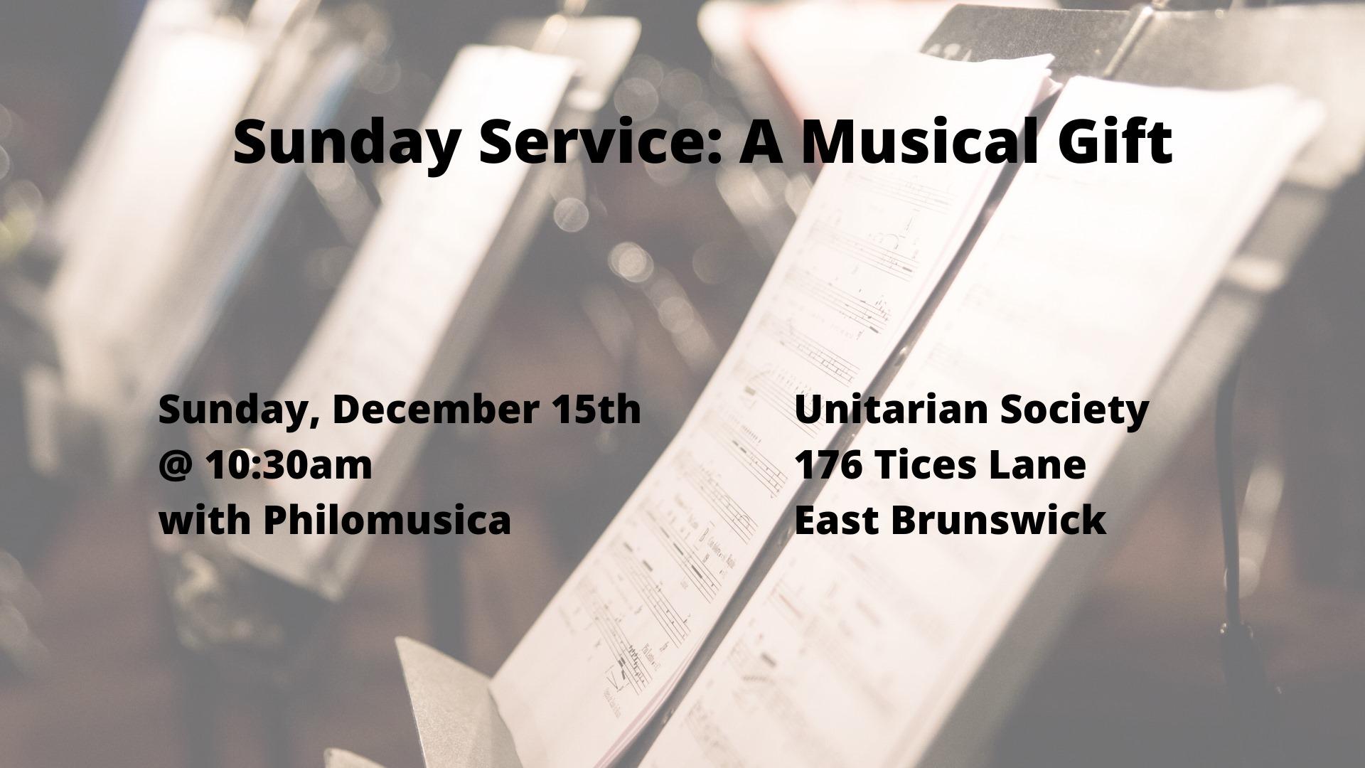 A Musical Gift — Sunday, December 15, 2019 @ 10:30 AM