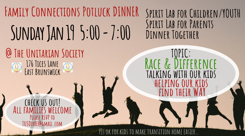 Family Connections Dinner — Sunday, January 19, 2020 @ 5 PM