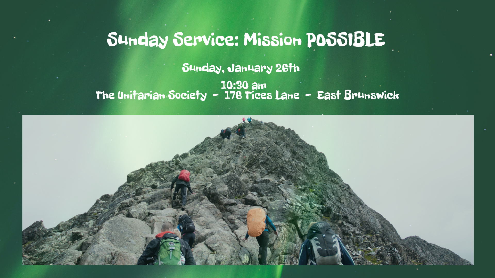 Mission Possible — Sunday, January 26, 2020 @ 10:30 AM