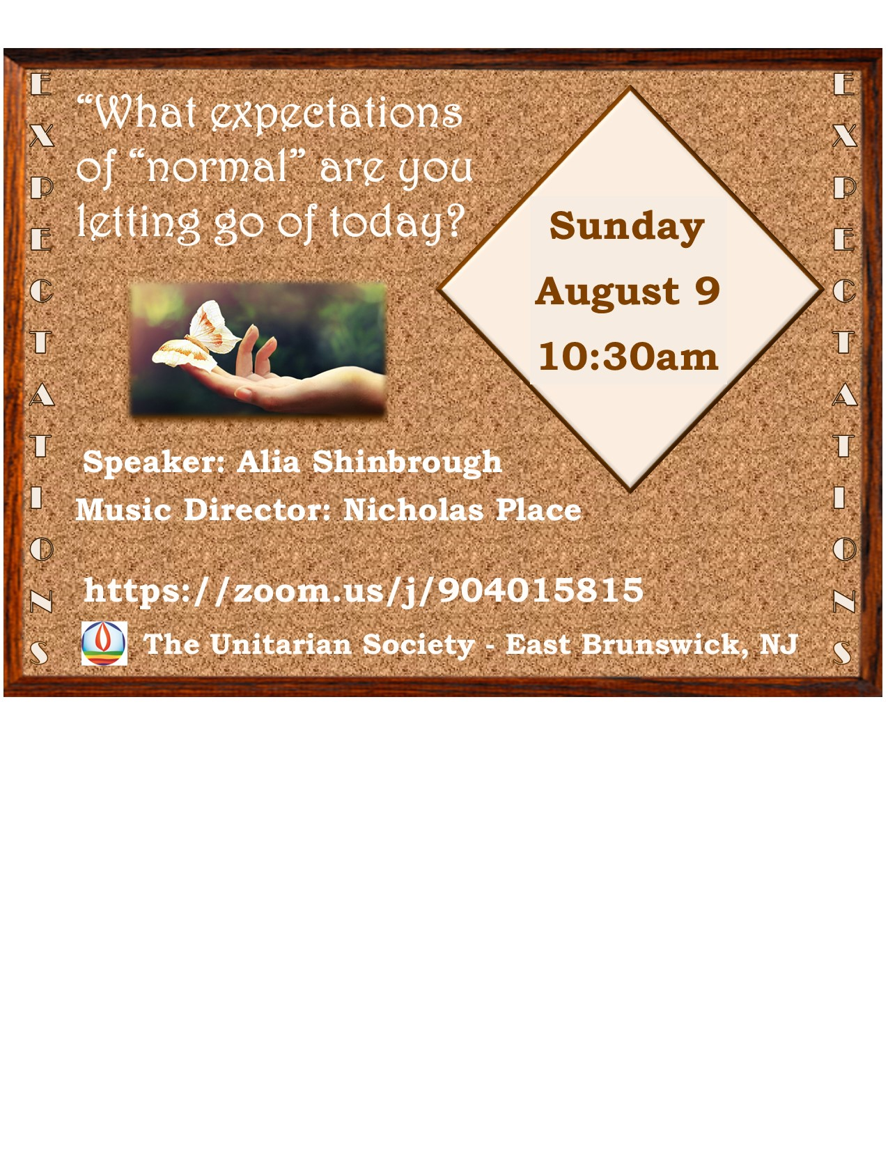 """Sunday, August 9, 2020 @ 10:30 AM — What Experience of """"Normal"""" Are You Letting Go of Today?"""