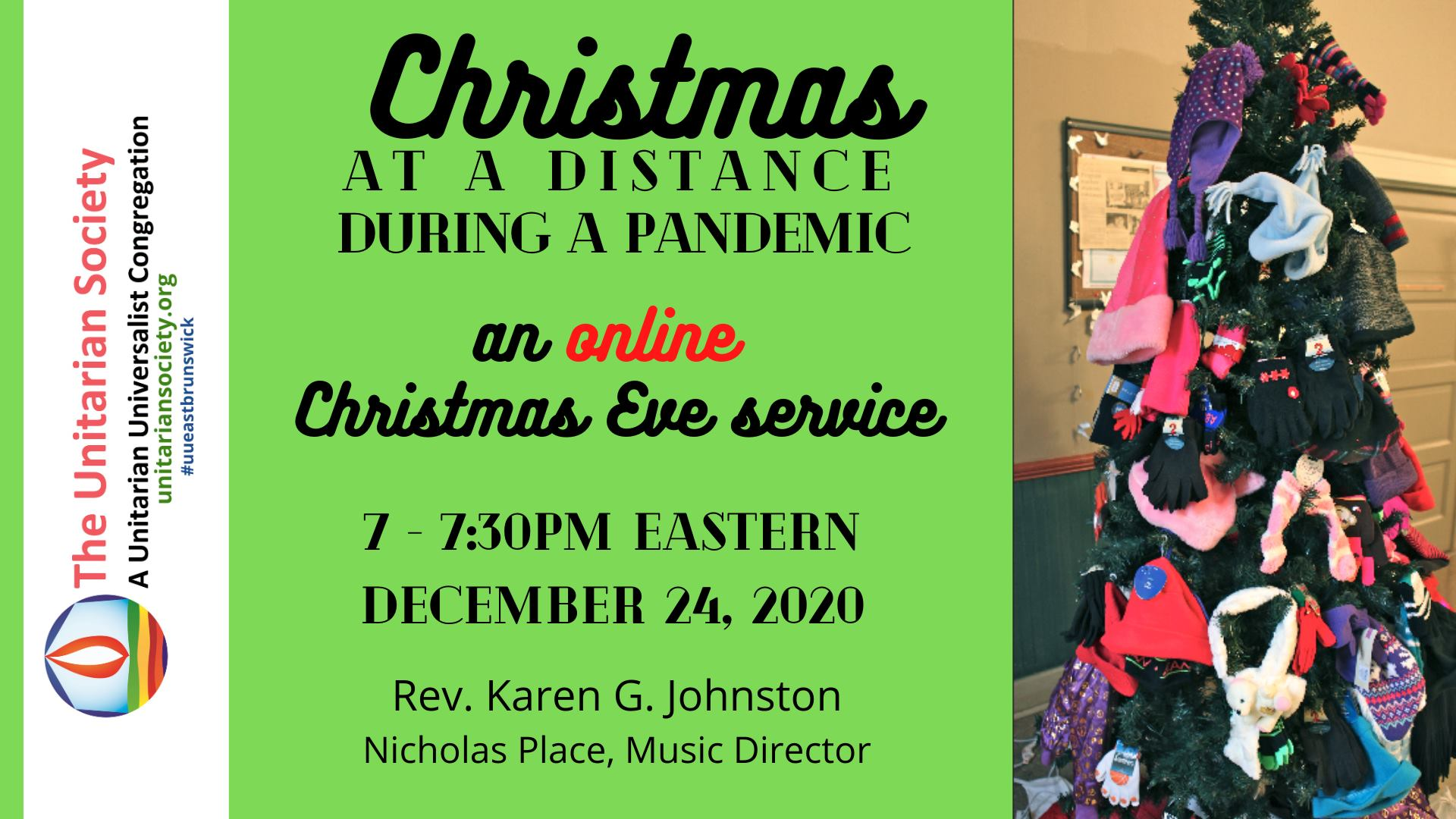 Christmas Eve service – online 7pm-7:30pm