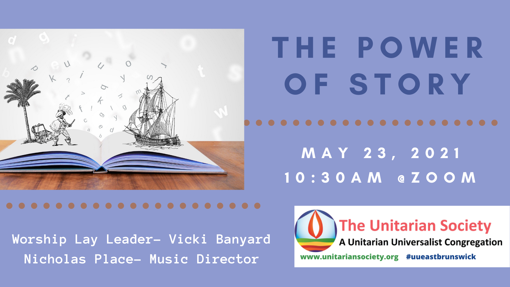 Sunday Service — May 23, 2021 @10:30AM — Power of Story